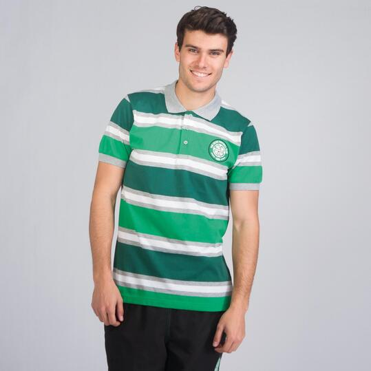 Polo Celtic SOURCE LAB Verde Hombre