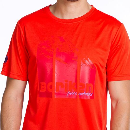 Camiseta Manga Corta BORIKEN Rojo Hombre