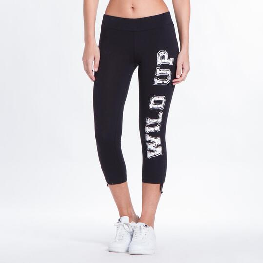 Leggins Pirata UP BASIC Negro Mujer