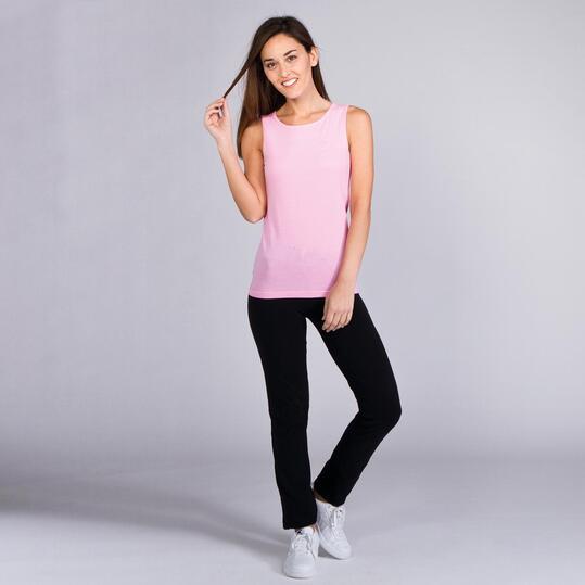 Camiseta Sin Manga UP BASICS  Rosa Mujer