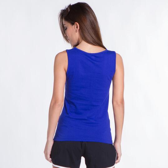 Camiseta Tirante Ancho UP BASIC Azul Mujer