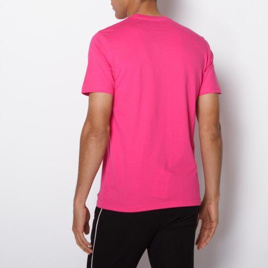 Camiseta Casual UP BASIC Fucsia Hombre