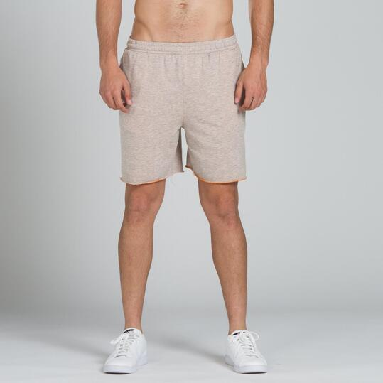 Pantalón Corto UP BASIC Gris Naranja Hombre