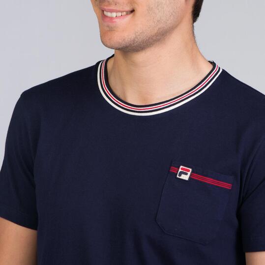 FILA LUZZI Camiseta Azul Marino Hombre