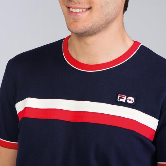 FILA RAZEE Camiseta Marino Rojo Hombre