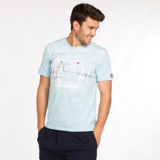 FILA Camiseta Celeste Hombre