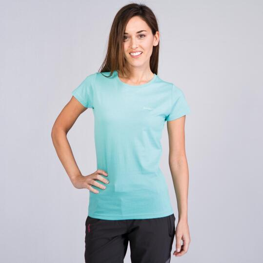 Camiseta Montaña BORIKEN BASIC Turquesa Mujer