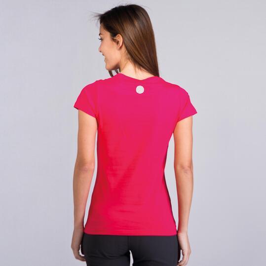Camiseta Montaña BORIKEN BASIC Fucsia Mujer