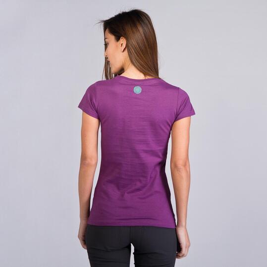 Camiseta Montaña BORIKEN BASIC Morado Mujer
