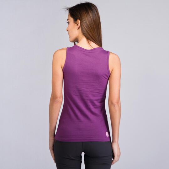 Camiseta Sin Mangas BORIKEN Morado Mujer