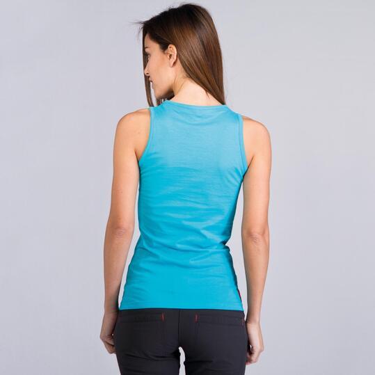 Camiseta Sin Mangas BORIKEN Turquesa Mujer