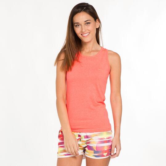 Camiseta Tirante Ancho BORIKEN Coral Mujer