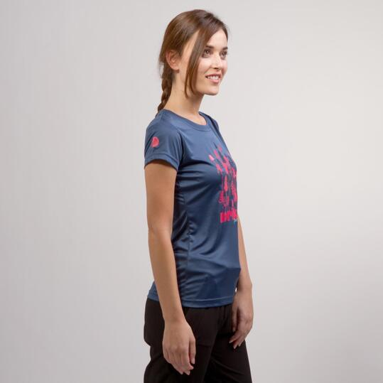 Camiseta Azul BORIKEN Mujer