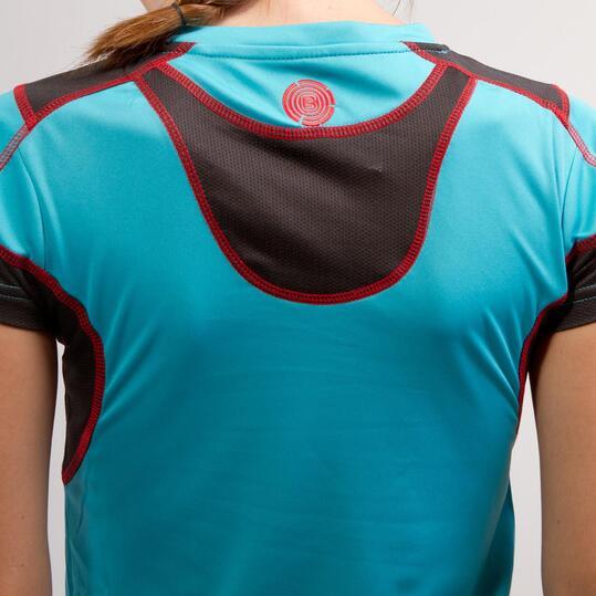 Camiseta Básica BORIKEN Turquesa Mujer