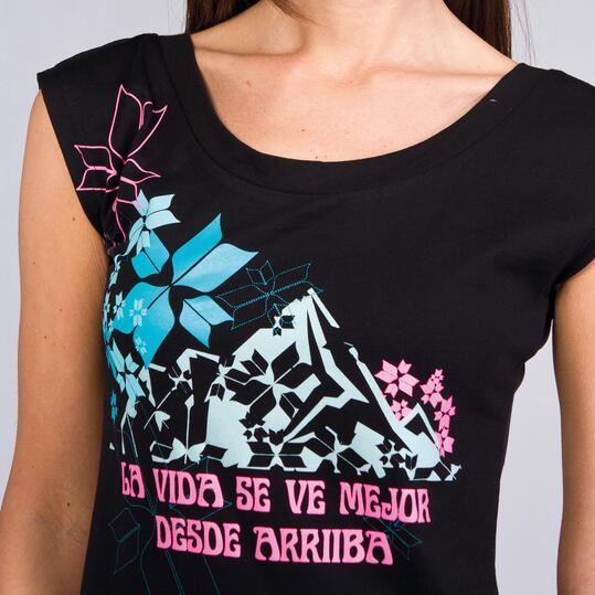 Camiseta Manga Corta BORIKEN Negra Mujer
