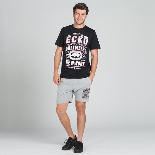 ECKO PADOCK Camiseta Negra Hombre