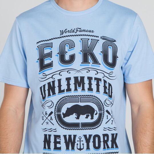 ECKO PADOCK Camiseta Celeste Hombre