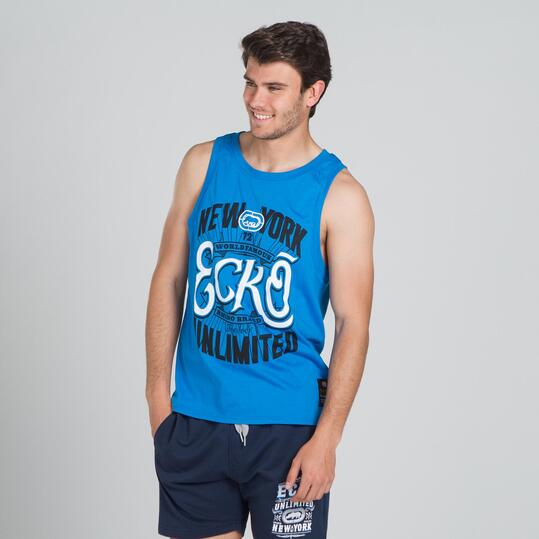 ECKO BELMONT Camiseta Tirantes Azul Hombre