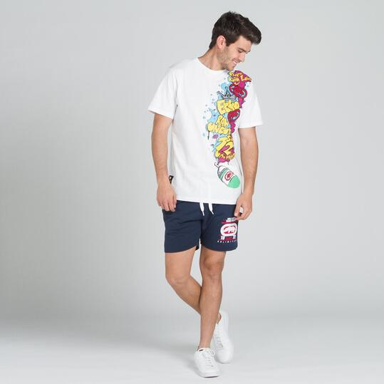 ECKO GRAFFITTI Camiseta Blanca Hombre