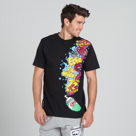 ECKO GRAFFITTI Camiseta Negra Hombre