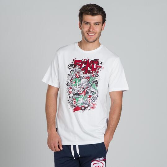 ECKO GRAFFITTI RHINO Camiseta Blanca Hombre