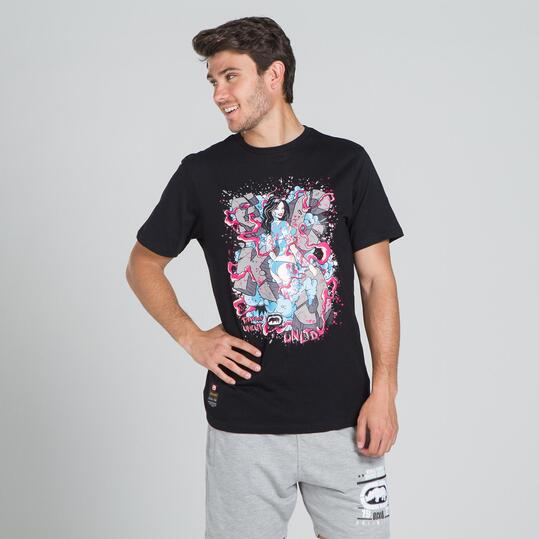 ECKO GRAFFITTI SMASHING Camiseta Negra Hombre