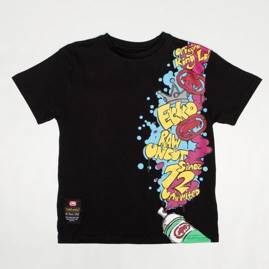 ECKO GRAFFITTI Camiseta Negra Niño (10-16)