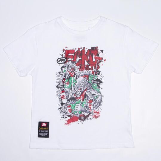 ECKO GRAFFITTI RHINO Camiseta Blanca Niño (10-16)