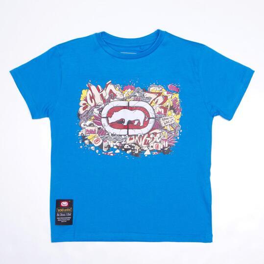 ECKO GRAFFITTI Camiseta Azul Niño (10-16)