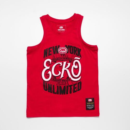 ECKO Camiseta Tirantes Rojo Niño (10-16)