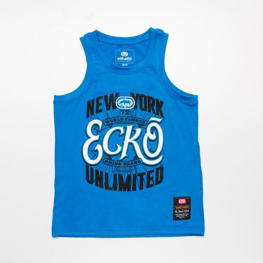 ECKO Camiseta Tirantes Azul Niño (10-16)