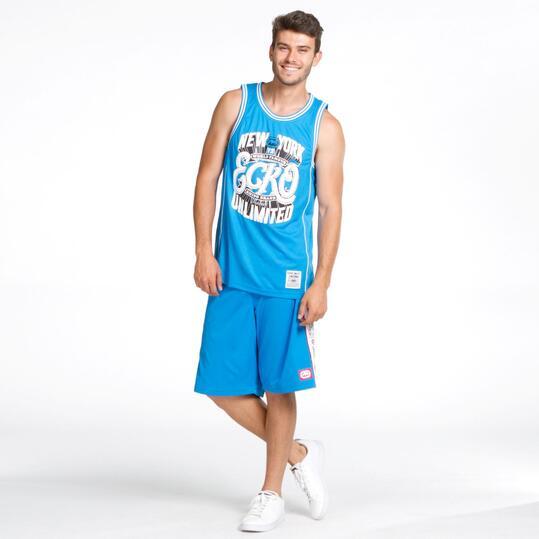 ECKO Camiseta Tirante Ancho Azul Hombre