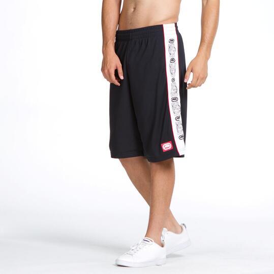 ECKO Pantalón Corto Negro Hombre