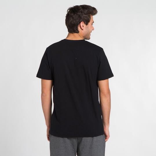 ECKO AAKO Camiseta Manga Corta Negra Hombre
