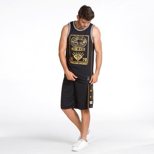 ECKO Camiseta Tirante Ancho Negra Hombre
