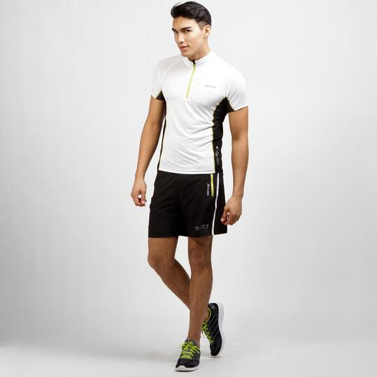 SERVAL Camiseta Blanco Antracita Caballero