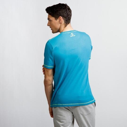 Camiseta Montaña SERVAL Turquesa Hombre