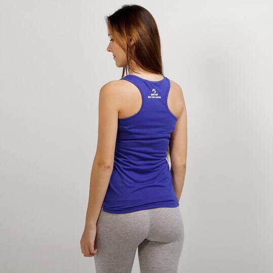 Camiseta Tirantes SERVAL TRAVEL Azul Mujer