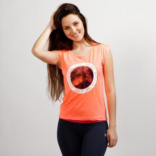 Camiseta Manga Corta SERVAL TRAVEL Coral Mujer
