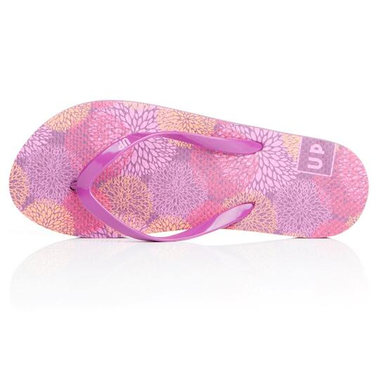 Chanclas Playa UP Estampadas Morado Mujer