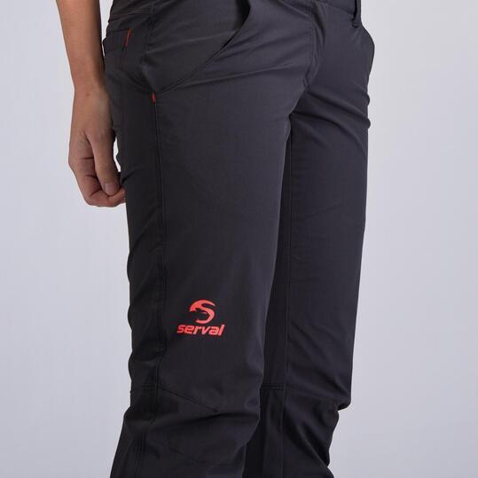Pantalón Cargo Montaña SERVAL Gris Mujer