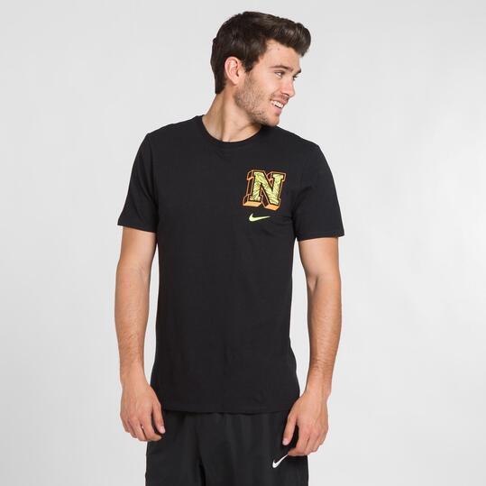 NIKE PALM Camiseta Negra Hombre
