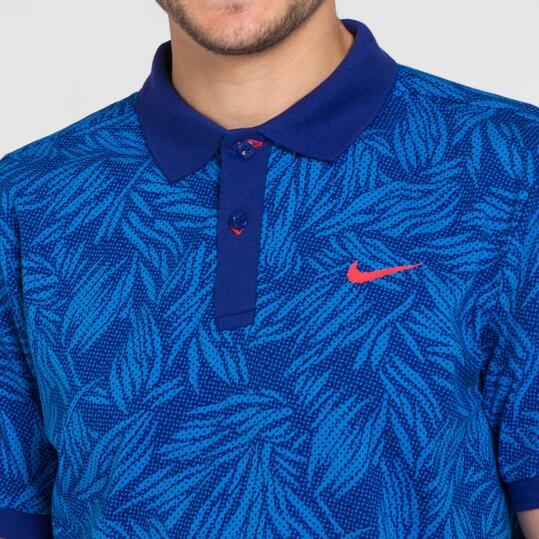 NIKE MATCHUP Polo Azul Hombre