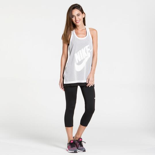 NIKE TANK Camiseta Tirantes Blanca Mujer