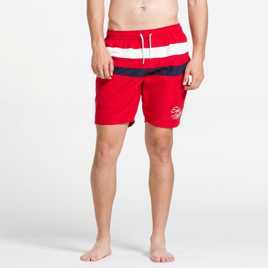 ECKO Bañador Corto Rojo Hombre