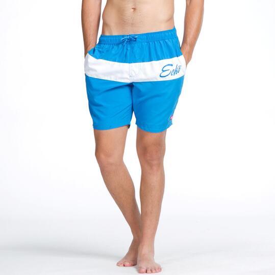 ECKO Bañador Corto Azul Hombre