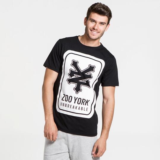 ZOOYORK Camiseta Negra Hombre