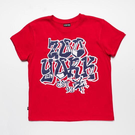 ZOOYORK Camiseta Rojo Niño (10-16)