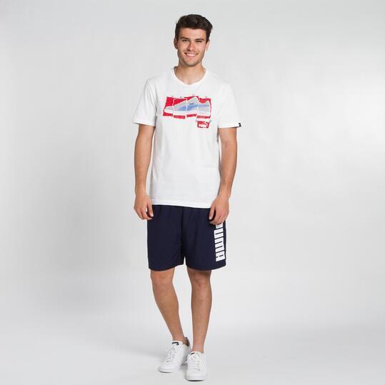 PUMA CHOPPED Camiseta Blanca Hombre