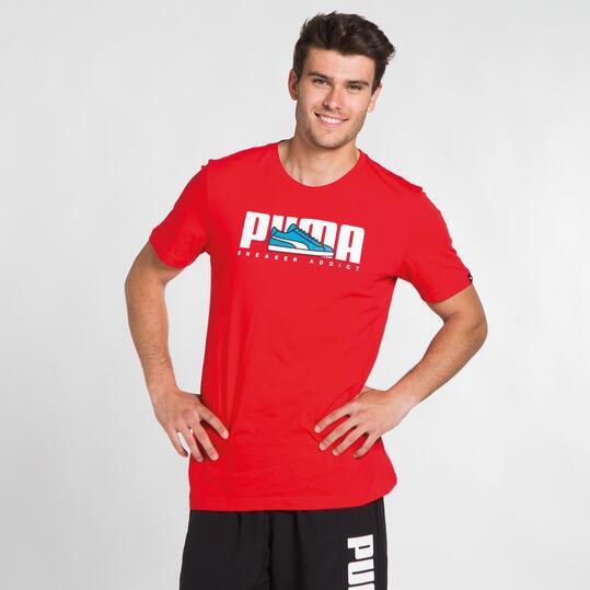 PUMA SNEAKER Camiseta Roja Hombre